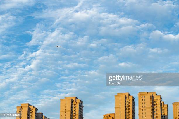 low angle view of residential building - liyao xie bildbanksfoton och bilder