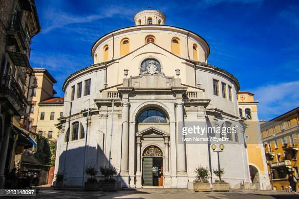 low angle view of rijeka cathedral against sky - rijeka stock pictures, royalty-free photos & images