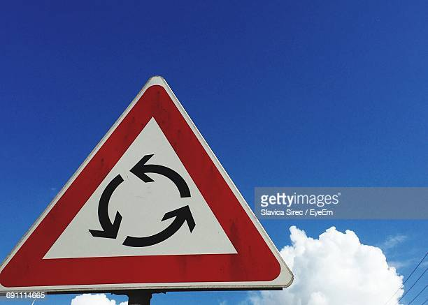 Low Angle View Of Road Sign