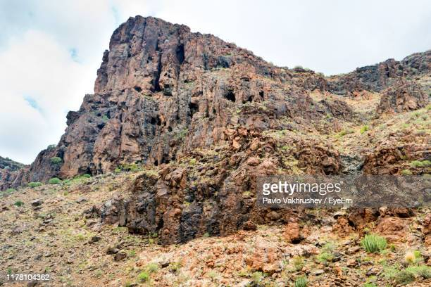 low angle view of rock formation against sky - the karoo stock pictures, royalty-free photos & images
