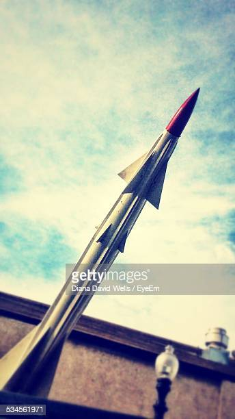 Low Angle View Of Rocket Against Sky
