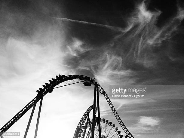 Low Angle View Of Roller Coaster