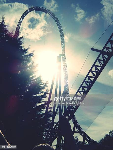 Low Angle View Of Rollercoaster In Thorpe Park