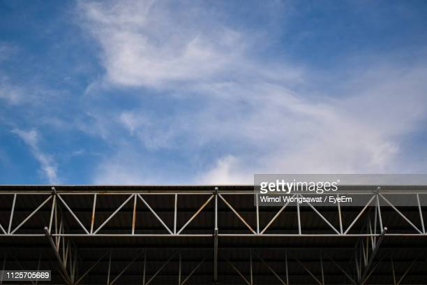 low angle view of roof against sky - wimol wongsawat stock photos and pictures
