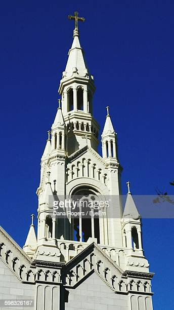 low angle view of saints peter and paul church against clear sky - faith rogers stock pictures, royalty-free photos & images