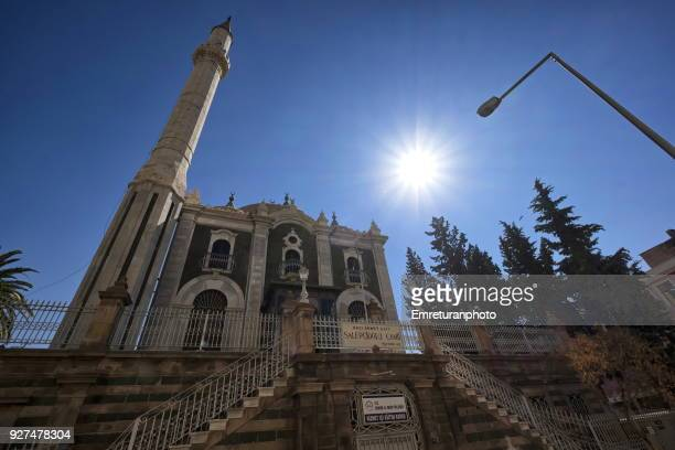 low angle view of salepcioglu mosque in izmir. - emreturanphoto stock pictures, royalty-free photos & images