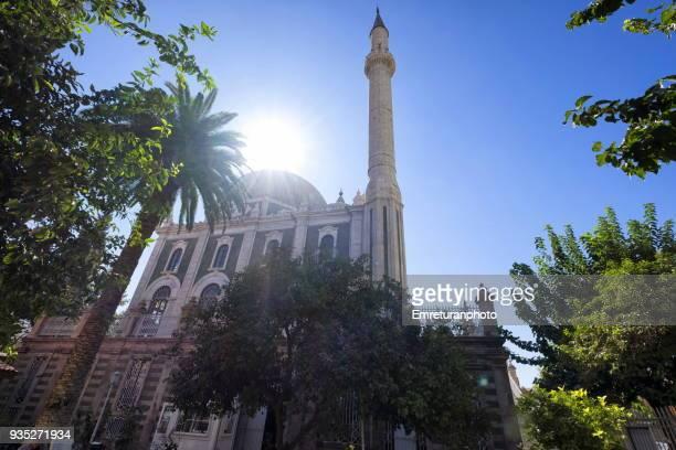 low angle view of salepcioglu mosque ;konak,izmir. - emreturanphoto stock pictures, royalty-free photos & images