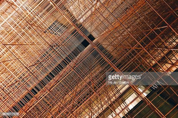 Low Angle View Of Scaffolding On Building