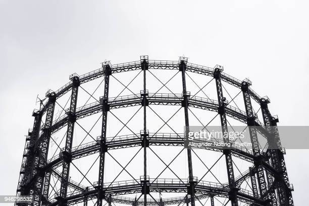 Low Angle View Of Schoneberg Gasometer Against Clear Sky
