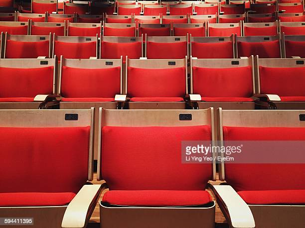 Low Angle View Of Seats In Theater