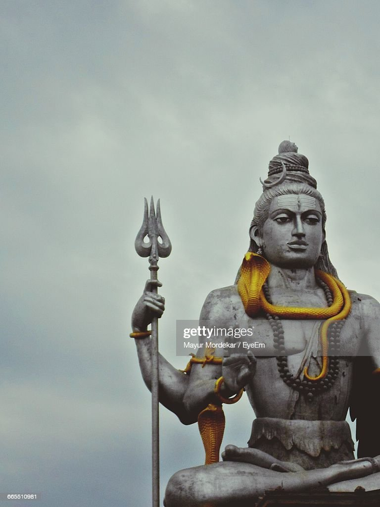 Low angle view of shiva statue against sky at murudeshwara low angle view of shiva statue against sky at murudeshwara voltagebd Image collections