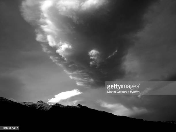 low angle view of silhouette mountain against sky - principality of liechtenstein stock pictures, royalty-free photos & images