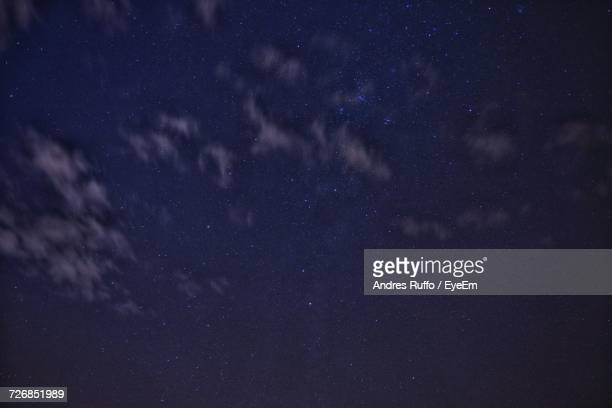 low angle view of sky at night - andres ruffo stock-fotos und bilder