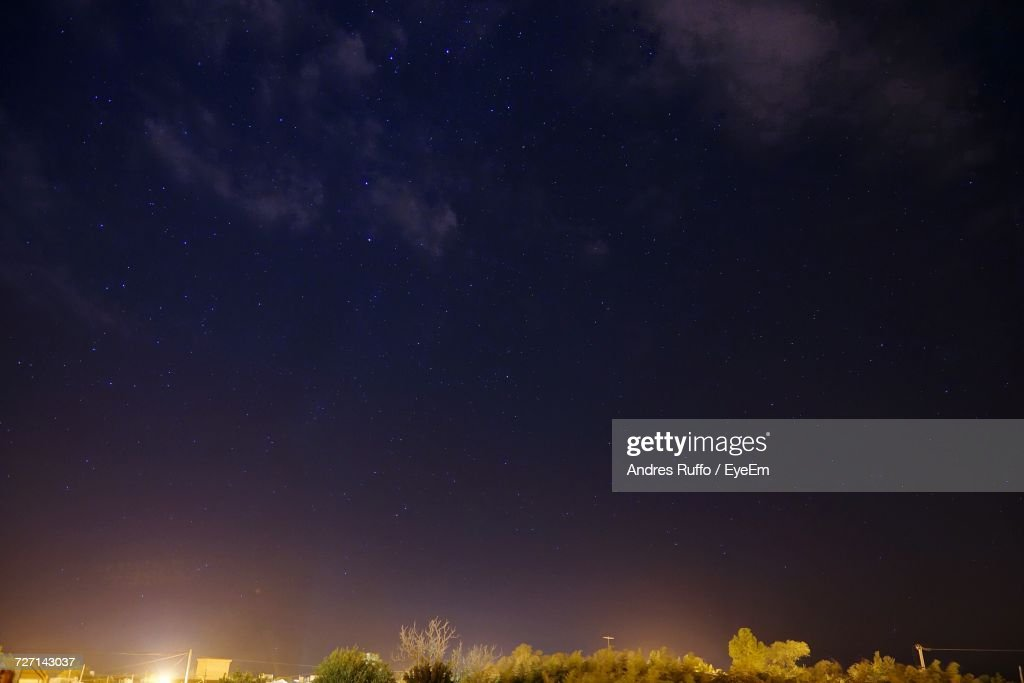 Low Angle View Of Sky At Night : Stock Photo