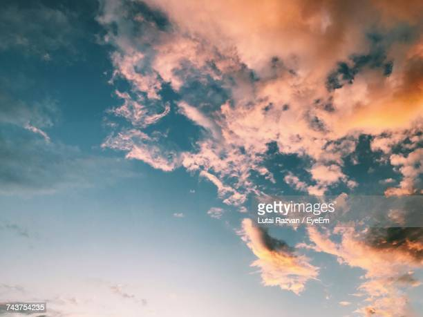 low angle view of sky at sunset - lutai razvan stock pictures, royalty-free photos & images