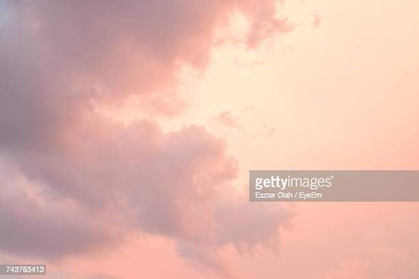 Low Angle View Of Sky At Sunset