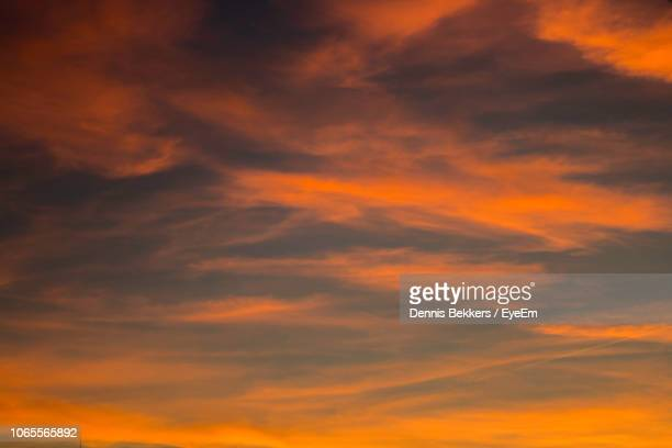 low angle view of sky during sunset - storm dennis stock pictures, royalty-free photos & images
