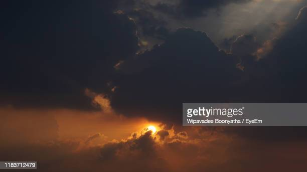 low angle view of sky during sunset - wipavadee stock photos and pictures