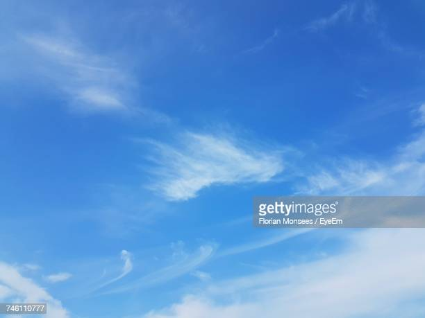 low angle view of sky - wispy stock photos and pictures