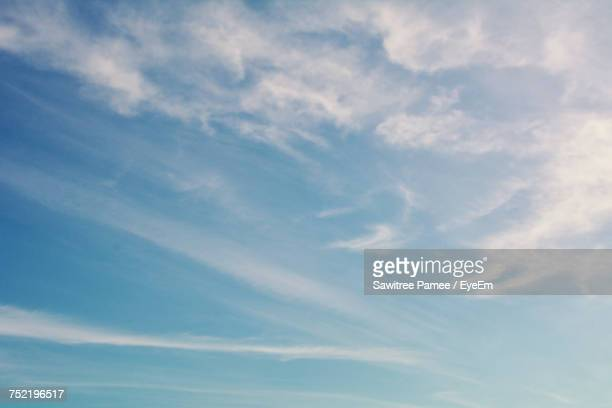 low angle view of sky - blue sky stock photos and pictures