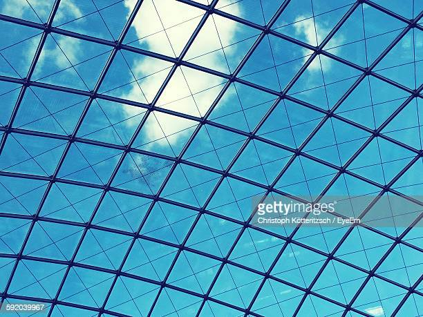 Low Angle View Of Skylight Against Blue Sky