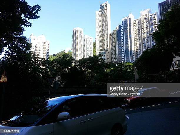 low angle view of skyscrapers in city - casey nolan stock pictures, royalty-free photos & images