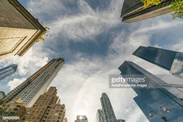 Low Angle View of Skyscrapers in Manhattan