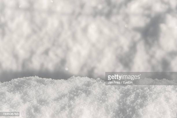Low Angle View Of Snow Against Sky