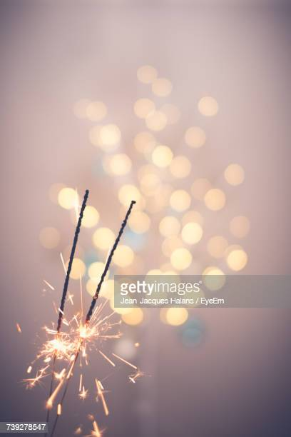 Low Angle View Of Sparklers
