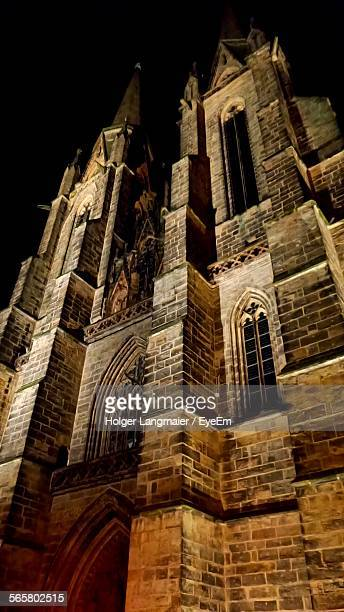 Low Angle View Of St Elizabeth Church At Night