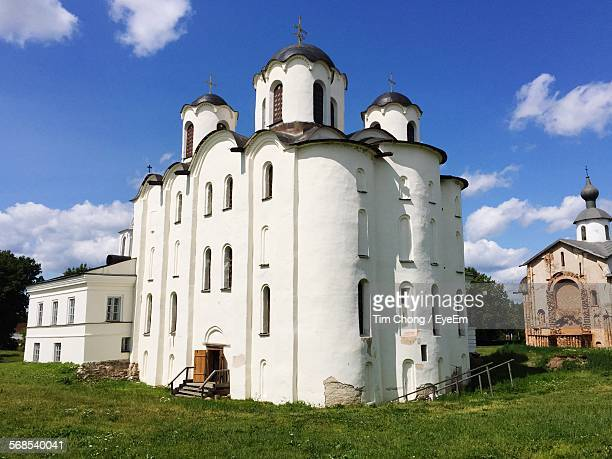 low angle view of st nicholas cathedral against sky - st. nicholas cathedral stock pictures, royalty-free photos & images