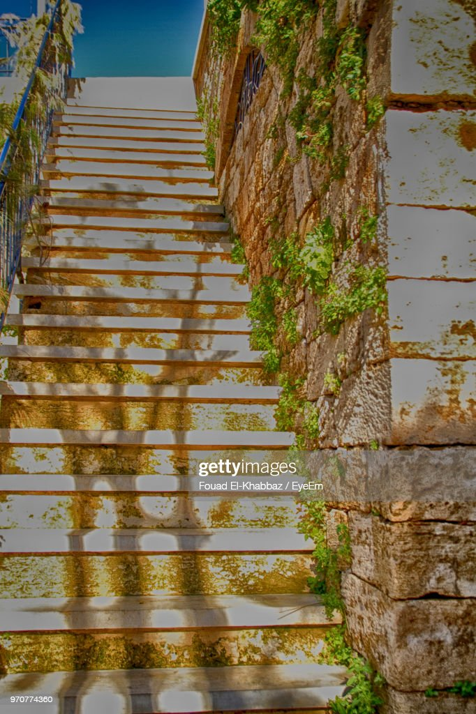 Low Angle View Of Staircase Against Building : Stock Photo