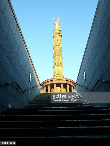 Low Angle View Of Staircase Leading Towards Victory Column