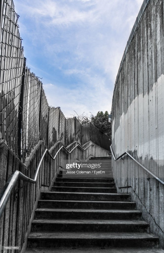 Low Angle View Of Stairs Against Sky : Stock Photo