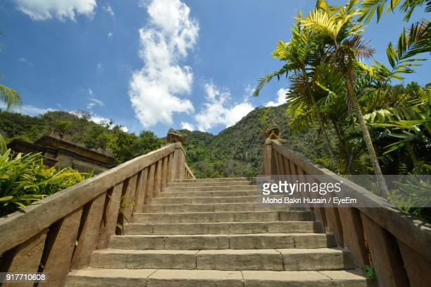 Low Angle View Of Stairs Against Sky