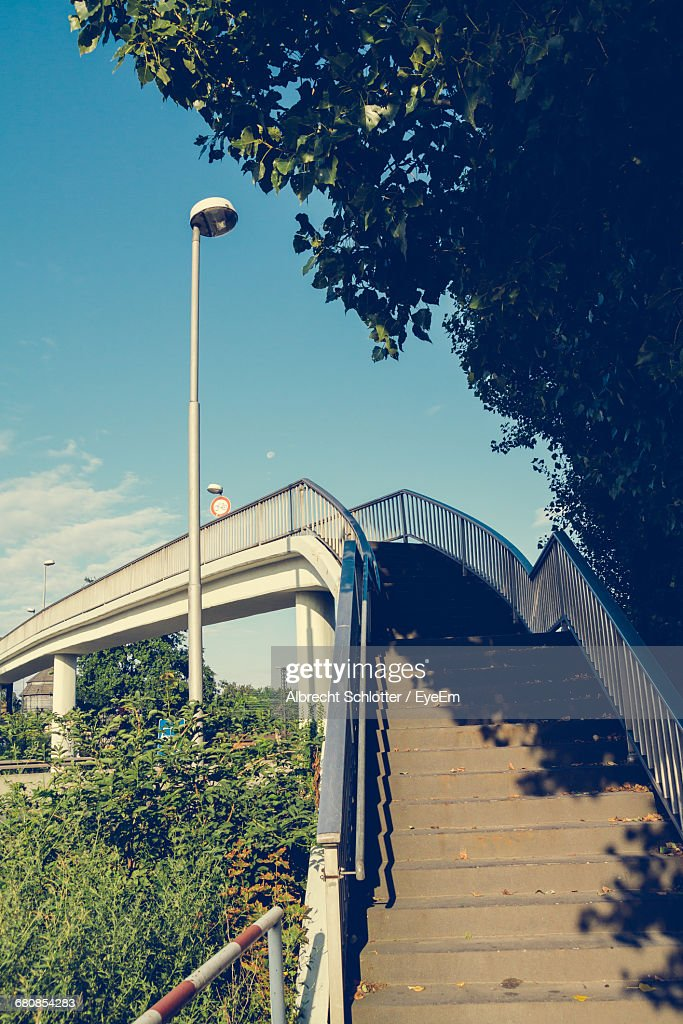 Low Angle View Of Stairs Against The Sky : Stock-Foto