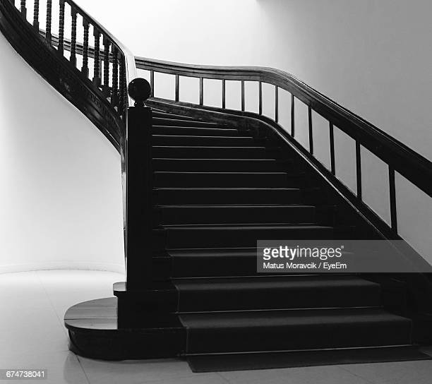 low angle view of stairs against the wall - matus moravcik fotografías e imágenes de stock