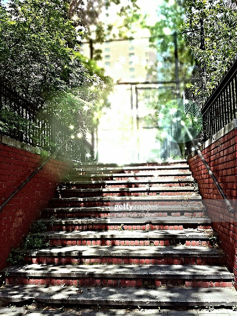 Low Angle View Of Stairway Outdoors : Stock Photo