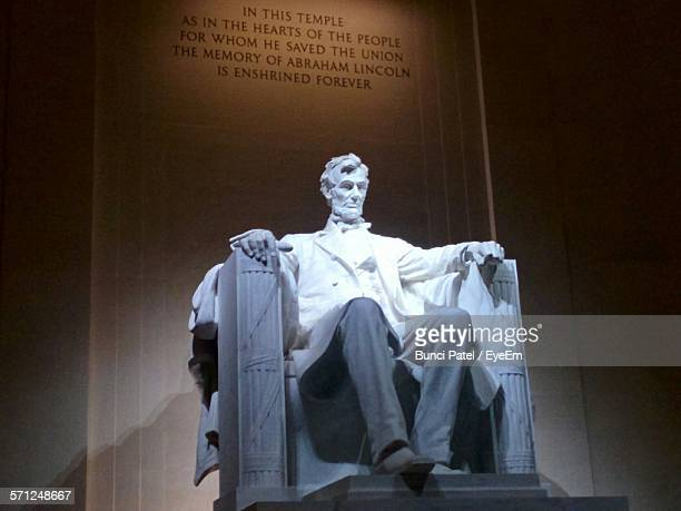 Low Angle View Of Statue At Lincoln Memorial
