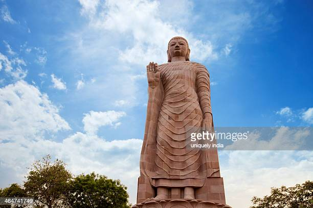 Low Angle View of statue of Lord Buddha, Thai Temple, Sravasti, Uttar Pradesh, India