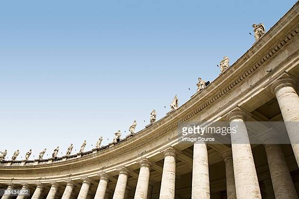 Low angle view of statues in st peters square