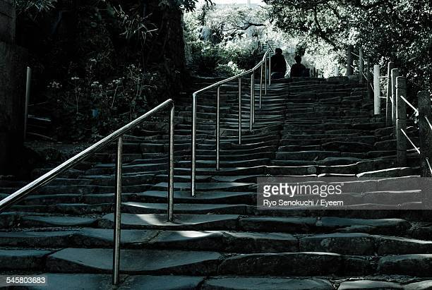 low angle view of steps at udo shinto shrine - 日本の神社 ストックフォトと画像