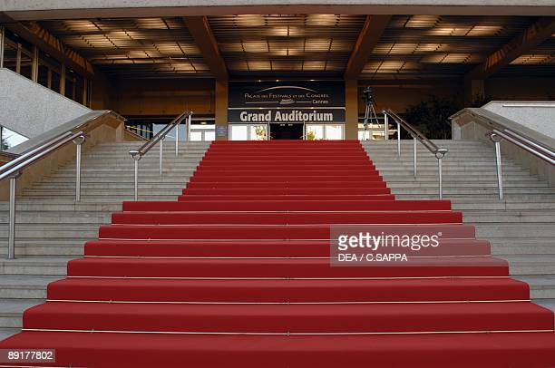 Low angle view of steps leading to a building Cannes France