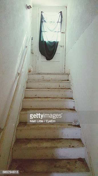 Low Angle View Of Steps Leading Towards Door