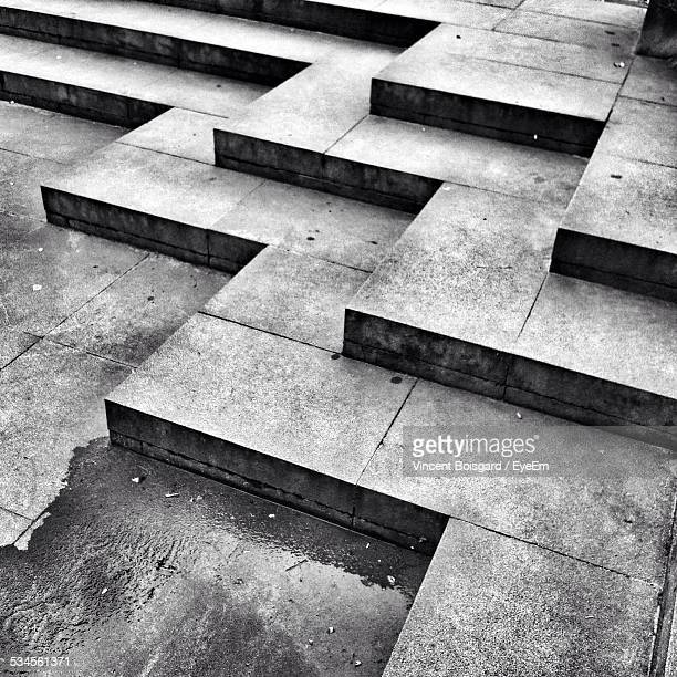Low Angle View Of Steps Of Temple