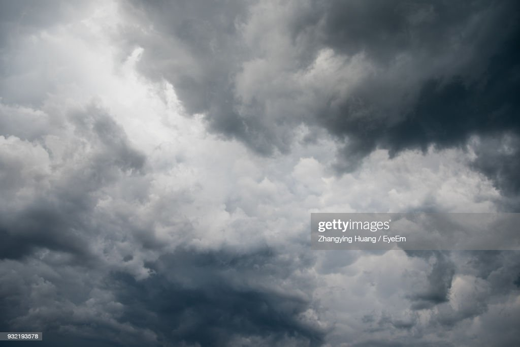 Low Angle View Of Storm Clouds In Sky : Stock Photo