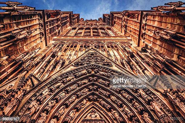 Low Angle View Of Strasbourg Cathedral