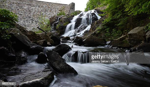 low angle view of stream flowing - reading pennsylvania stock pictures, royalty-free photos & images