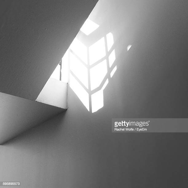 low angle view of sunlight on home wall - rachel wolfe stock pictures, royalty-free photos & images