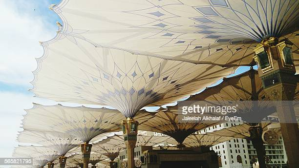 Low Angle View Of Sunshades